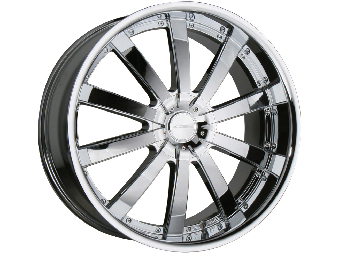 22 ace executive chrome wheels mercedes benz s cls cl for Chrome rims for mercedes benz