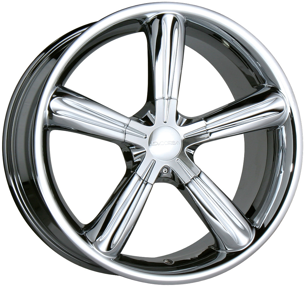 "1998-2002 Honda Accord 5 Lug 6 Cyl Chr Rims 17"" DeCorsa"